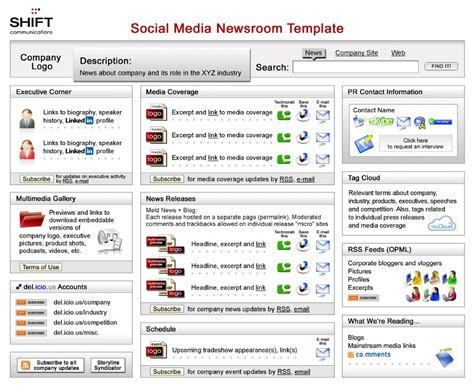 social media template the social media newsroom template debuts a