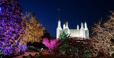 dc mormon temple festival of lights washington d c temple visitors center celebrates festival