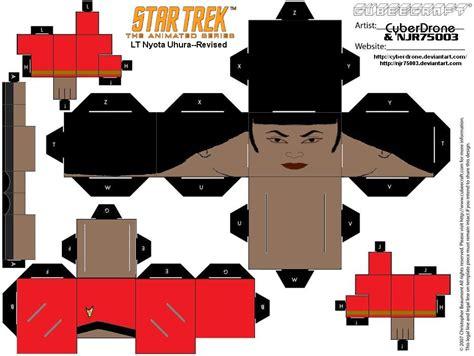 Papercraft Trek - cubee trek tas uhura 1 by njr75003 on deviantart