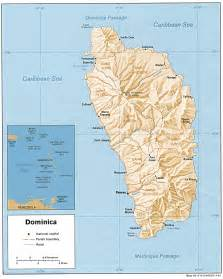 dominica on world map nationmaster maps of dominica 2 in total