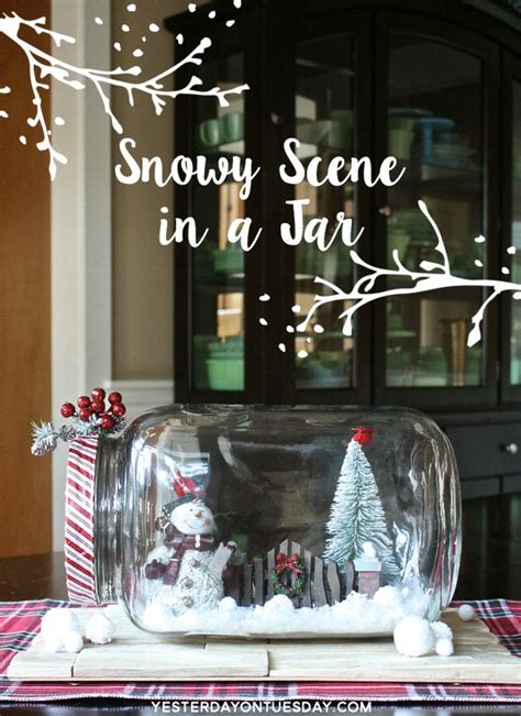 festive decoration services how to make a gorgeous and festive snowy scene in a jar