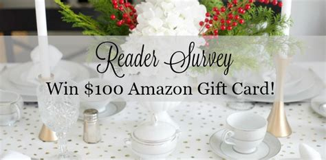 Win Amazon Gift Card Survey - reader survey win 100 amazon gift card parties for pennies