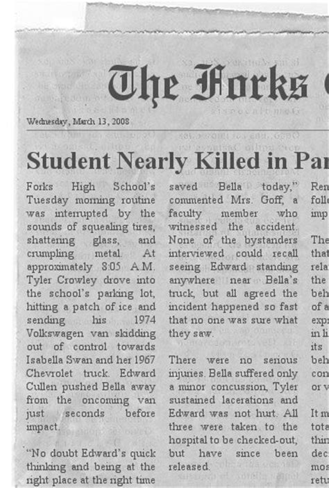 template of newspaper article newspaper article template