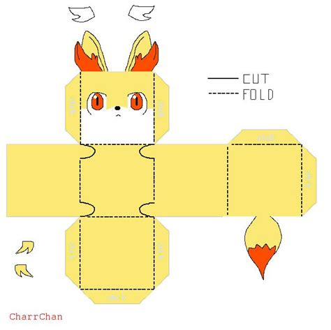 Papercraft Printable - 150 best images about cube crafts on pikachu
