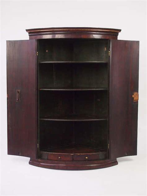Mahogany Cupboard - antique georgian mahogany bow fronted corner cupboard