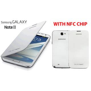 Samsung Galaxy 2 Casing Book Flip Cover Kasing samsung galaxy note 2 ii n7100 battery book flip cover with nfc chip white