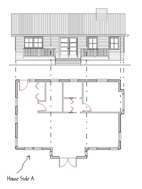 house with floor plans and elevations how to draw elevations
