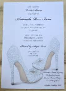 bridal shower invitations shoe theme bridal shower bridal