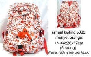 Mr Go Tas Ransel Merah Polos shop ransel kipling 5083 motif polos monyet
