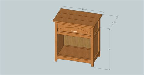 Nightstand Measurements by White Farmhouse Arch Nightstand Diy Projects