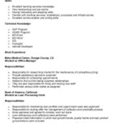 Duties Of A Loan Processor by Mortgage Loan Processor Description Resume Objective Exles Loan Processor