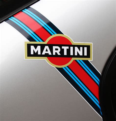 martini logo martini style flashes logo stripes x2 ideal for scooters
