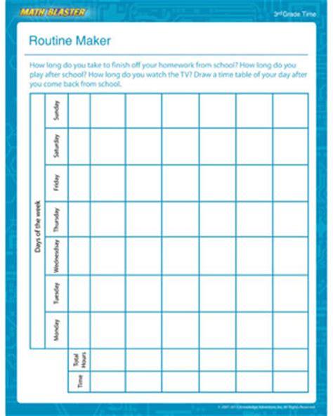 Free Worksheet Maker by Routine Maker Free Math Printable For Math Blaster