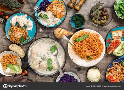 table snack cuisine traditional food table and snacks top view