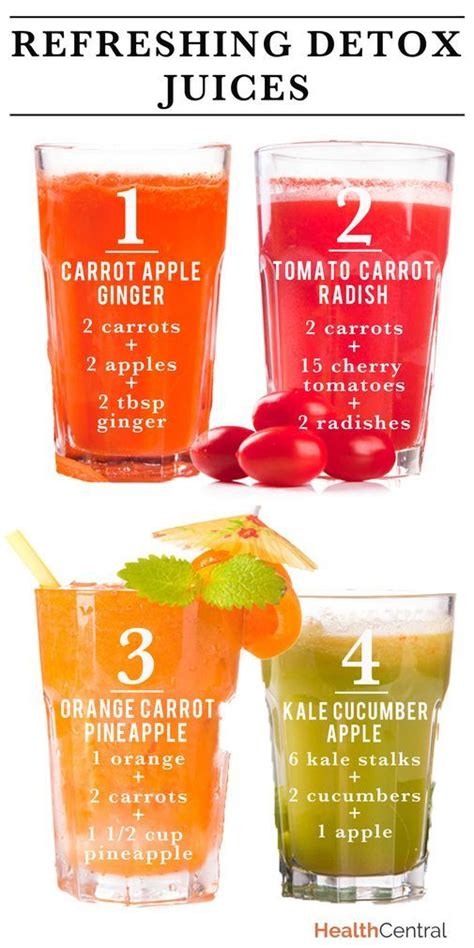 Low Calorie Detox Juice Recipes by Refreshing Detox Juice Recipes Infographic Trying To