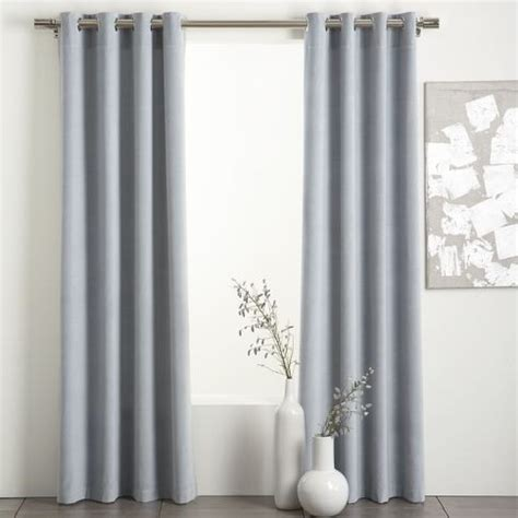 light grey drapes light blue grey velvet curtain