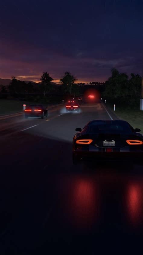 forza horizon  racing night road