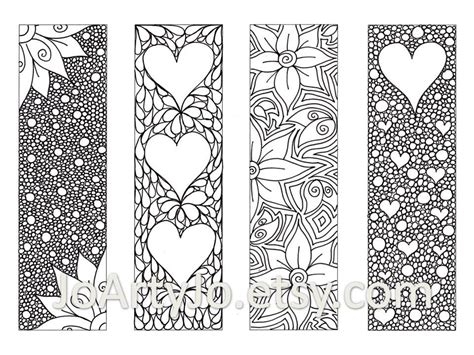 zendoodle bookmarks diy zentangle inspired hearts and