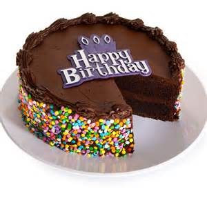 chocolate happy birthday cake by gourmetgiftbaskets com