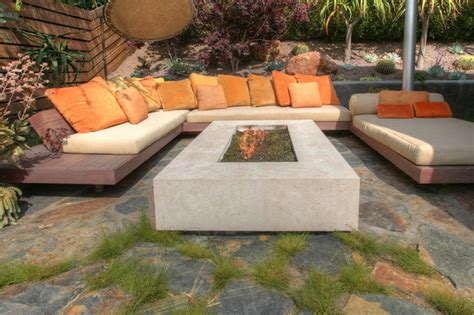 Patio Surface by Olympia Bush Hammered Limestone Fireplace