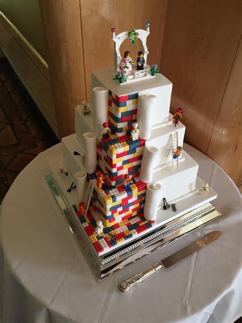 hochzeitstorte lego this lego wedding cake at work today pics