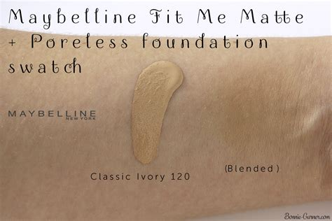 Maybelline Fit Me Foundation Review Indonesia maybelline fit me matte poreless foundation 120 classic