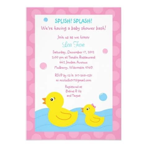 baby shower rubber sts rubber ducky duck baby shower invitations ducky