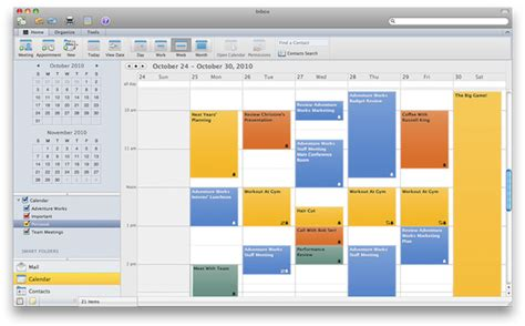 microsoft office 2010 calendar template outlook 2011 review exchange parity comes to mac os x