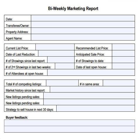 bi weekly marketing report dashboards ppt