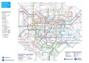 rail map tfl has produced a new and improved and rail map
