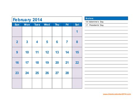 february 2014 calendar template february 2014 calendar with holidays pictures to pin on