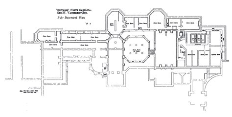 biltmore estate floor plans biltmore house sub basement sub basement floorplan