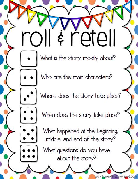 printable guided reading dice roll and retell pdf google drive we could roll the dice