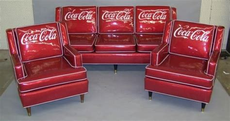 coca cola couch vintage coca cola couch chairs saloon pinterest
