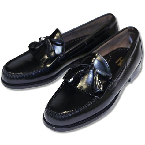 league loafers bass weejuns league leather bow tassel fringe layton