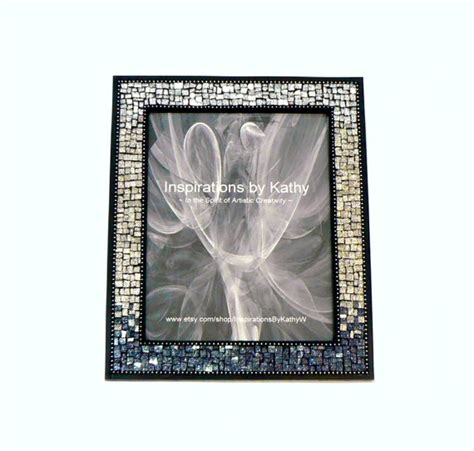8x10 picture frame glitter glass picture frame silver