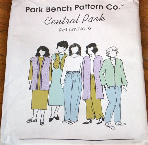 park bench patterns vintage park bench sewing pattern no 8 central park duster