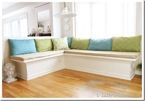 how to make a banquette cushion 25 kitchen window seat ideas home stories a to z