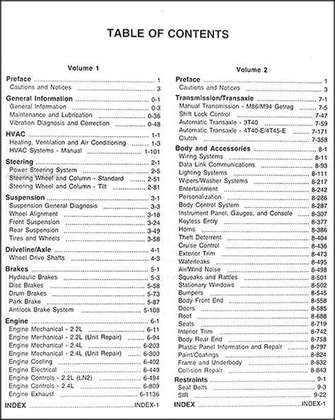 1998 pontiac sunfire repair manual images diagram writing sle ideas and guide