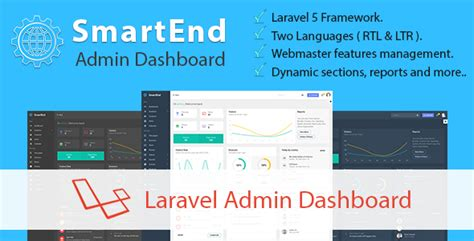 Smartend Laravel Admin Dashboard Traclaborat Laravel Dashboard Template
