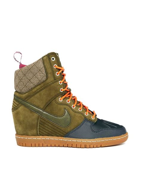 nike nike dunk sky high sneakerboot wedge trainer