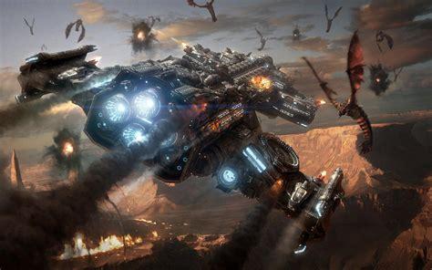 spaceship starcraft zerg futuristic battlecruiser