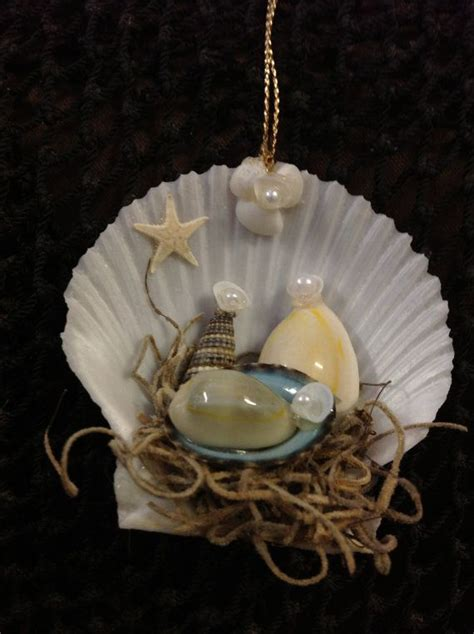 seashell nativity ornament manger scene ornament