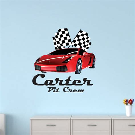 car wall stickers for boys race car for boys room checkered racecar wall decal cars wall decals boys room