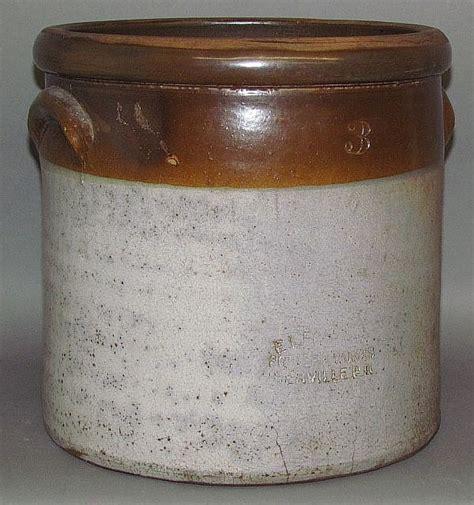 Stoneware L by Two Tone 3 Gallon E L Farrar Stoneware Crock