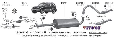 Suzuki Grand Vitara Exhaust Vito03 Exhausts Esystems