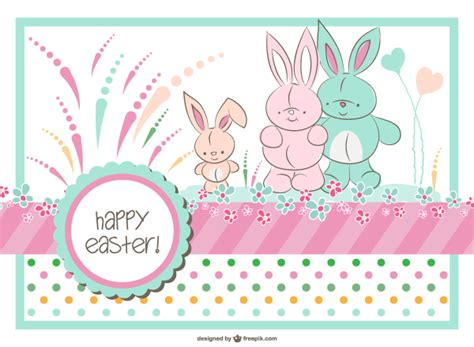 family cards template easter bunny family card template 123freevectors
