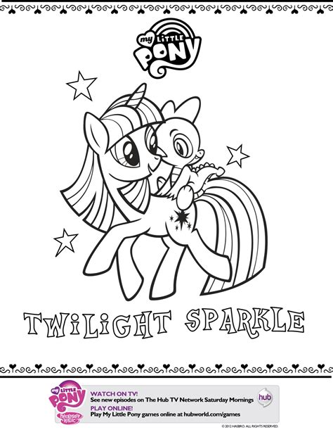 pony twilight sparkle printable coloring page