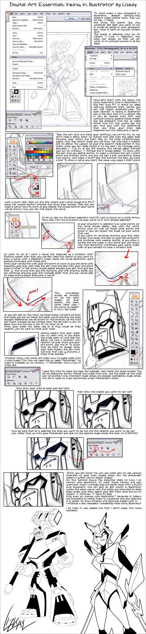 tutorial illustrator bd illustrator inking tutorial by lizkay on deviantart