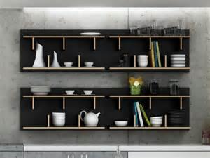 etag 232 re murale design en bois 2 niveaux bern noir 90 cm